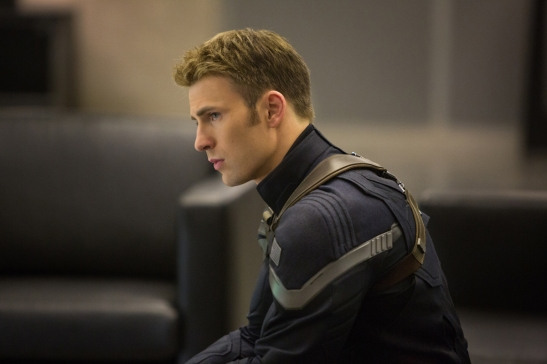 "*************** 2014 SPRING MOVIE SNEAKS FOR JANUARY 12, 2014. DO NOT USE PRIOR TO PUBLICATION.******  From the movie ""Marvel's Captain America: The Winter Soldier"" Captain America/Steve Rogers (Chris Evans) Ph: Zade Rosenthal © 2014 Marvel.  All Rights Reserved."